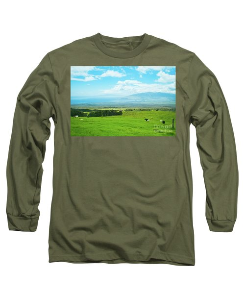 Kula Upcountry Maui Hawaii Long Sleeve T-Shirt by Sharon Mau