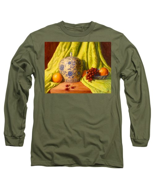 Long Sleeve T-Shirt featuring the painting La Jardiniere by Joe Bergholm