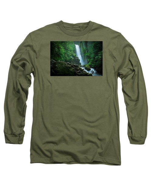 La Paz Waterfall Costa Rica Long Sleeve T-Shirt by RC Pics