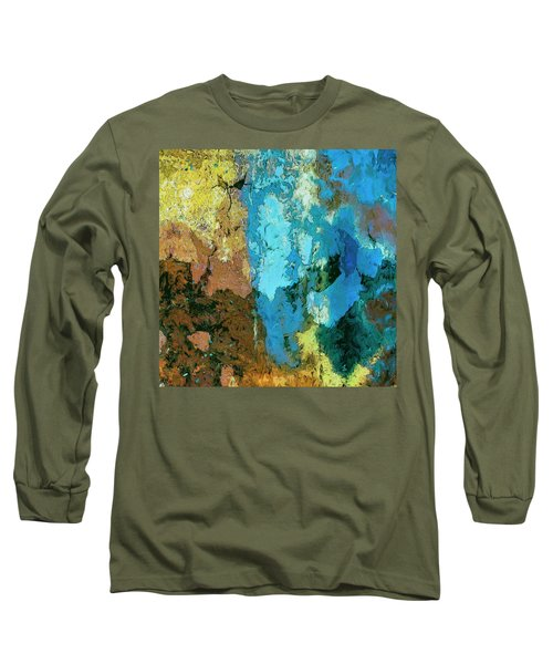 Long Sleeve T-Shirt featuring the painting La Playa by Dominic Piperata