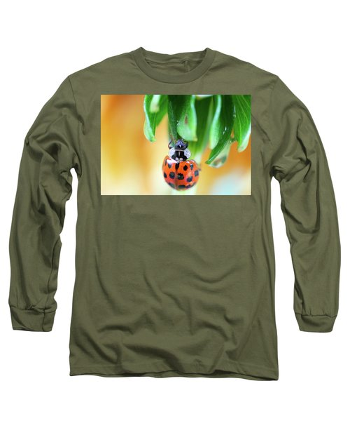 Long Sleeve T-Shirt featuring the photograph Lady Bug In A Heatwave by Brian Hale