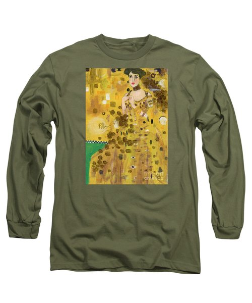 Lady In Gold Long Sleeve T-Shirt