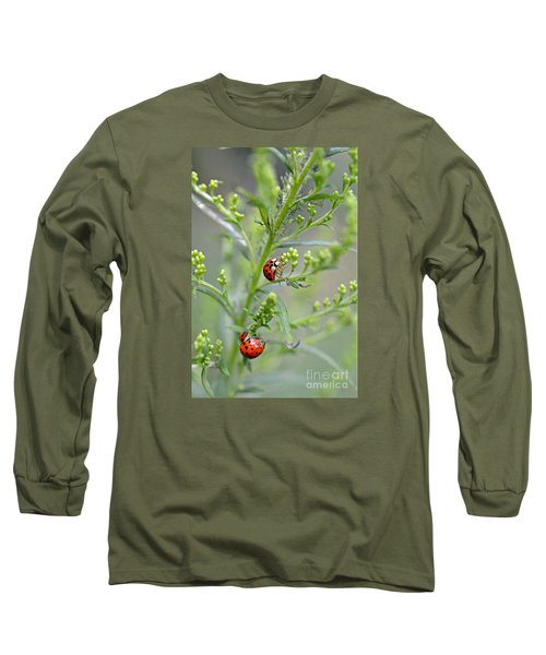 Long Sleeve T-Shirt featuring the photograph Ladybug Ladybug... by Lila Fisher-Wenzel