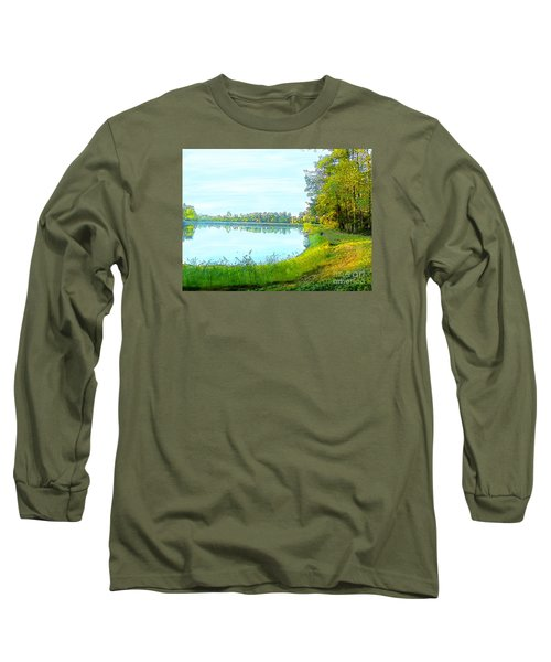 Lake And Woods Long Sleeve T-Shirt by Craig Walters