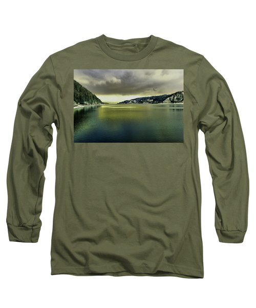 Long Sleeve T-Shirt featuring the photograph Lake Coeur D' Alene by Jeff Swan