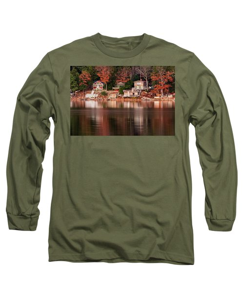 Lake Cottages Reflections Long Sleeve T-Shirt