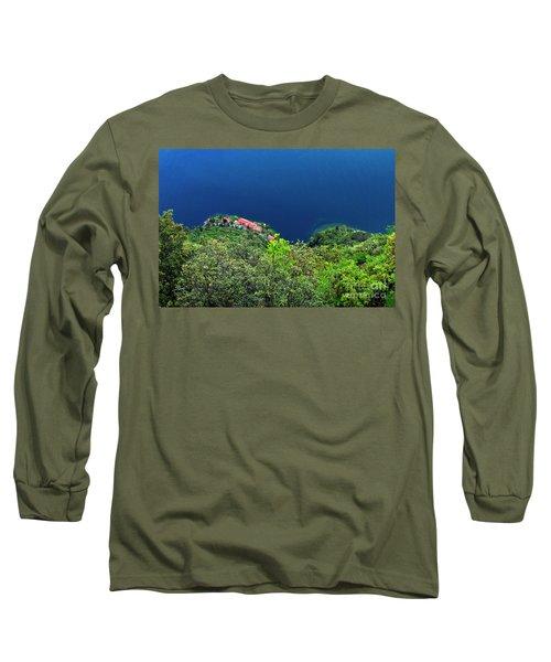 Lake Garda  Long Sleeve T-Shirt by Maja Sokolowska