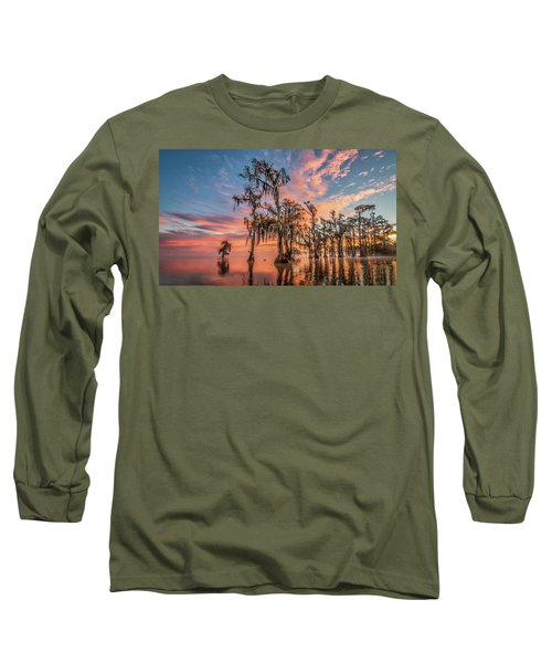 Lake Maurepas On Fire Long Sleeve T-Shirt