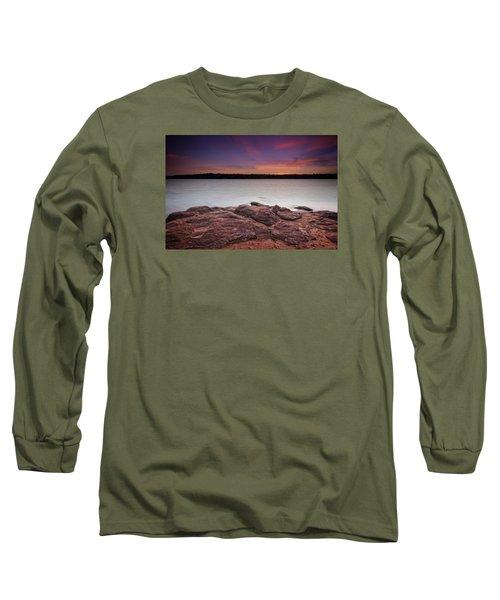 Lake Sunset Iv Long Sleeve T-Shirt