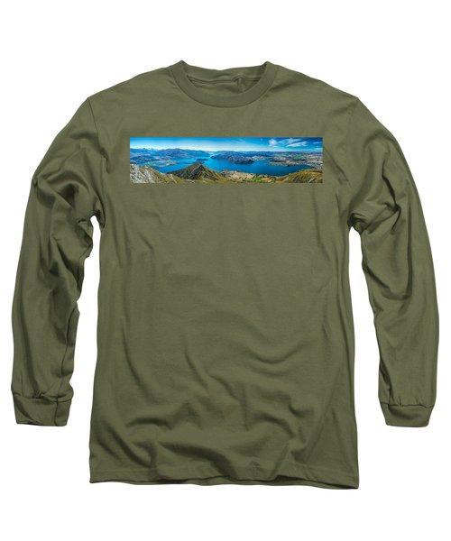 Lake Wanaka Long Sleeve T-Shirt by Martin Capek