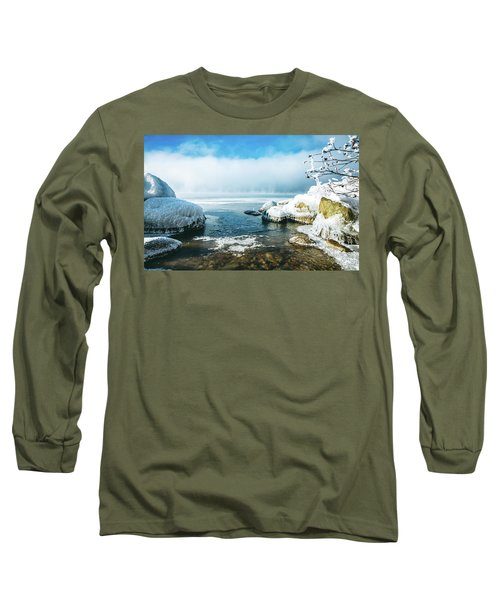 Long Sleeve T-Shirt featuring the photograph Lake Winnisquam by Robert Clifford