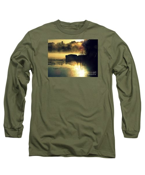 Long Sleeve T-Shirt featuring the photograph Lakeshore by France Laliberte