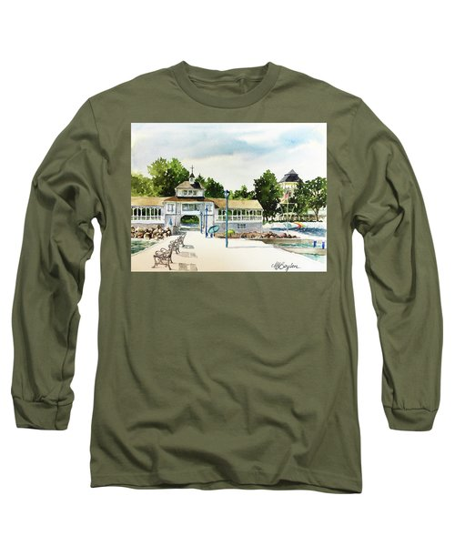 Lakeside Dock And Pavilion Long Sleeve T-Shirt