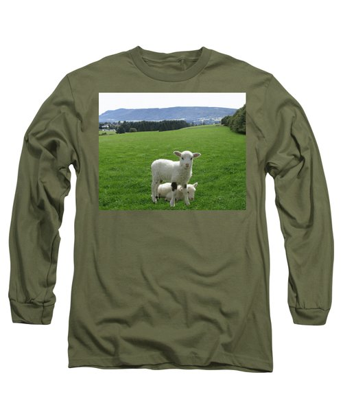 Lambs In Pasture Long Sleeve T-Shirt