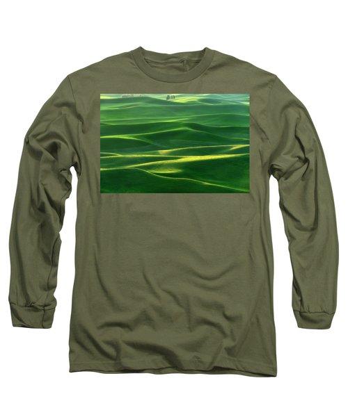 Land Waves Long Sleeve T-Shirt by Ryan Manuel