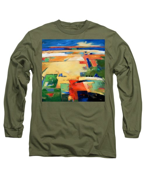 Long Sleeve T-Shirt featuring the painting Landforms, You've Never Been Here by Gary Coleman