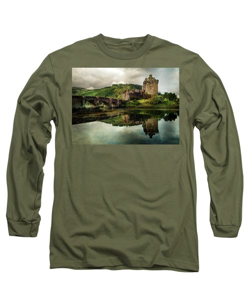 Long Sleeve T-Shirt featuring the photograph Landscape With An Old Castle by Jaroslaw Blaminsky
