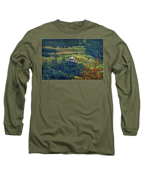 Long Sleeve T-Shirt featuring the photograph Landscape With Castle by Hanny Heim