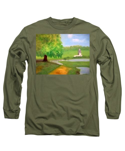 Landscape With Luxuriant Tree And Folly Long Sleeve T-Shirt
