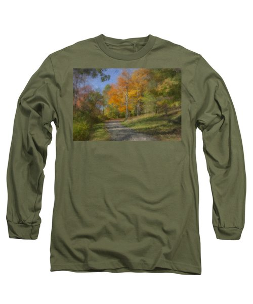 Langwater Path In October Long Sleeve T-Shirt