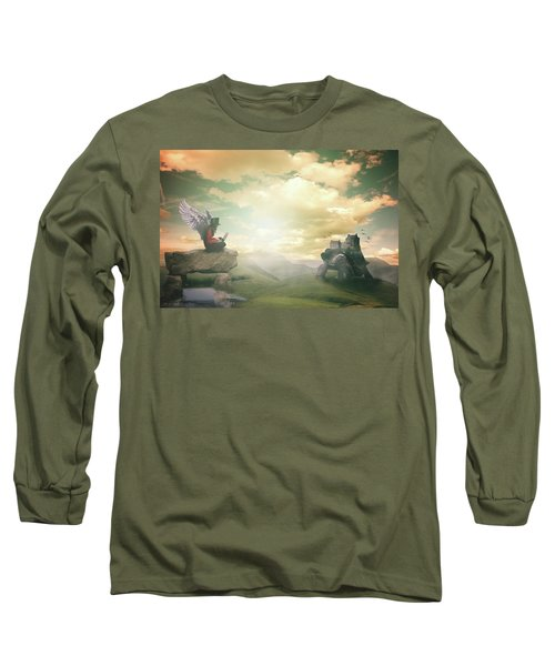 Laptop Dreams Long Sleeve T-Shirt by Nathan Wright