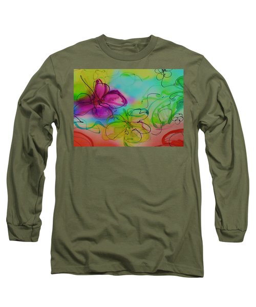 Large Flower 2 Long Sleeve T-Shirt