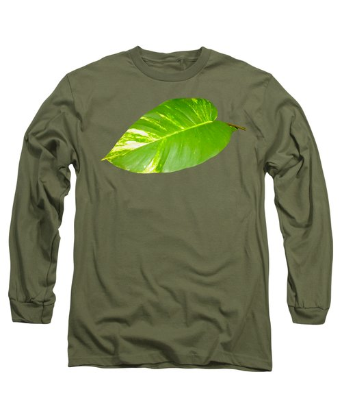 Long Sleeve T-Shirt featuring the digital art Large Leaf Art by Francesca Mackenney