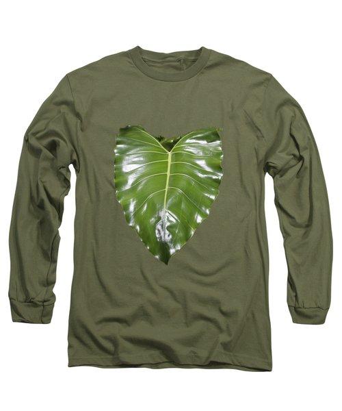 Large Leaf Transparency Long Sleeve T-Shirt