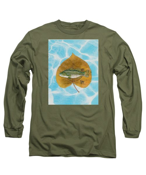 Large Mouth Bass #2 Long Sleeve T-Shirt by Ralph Root