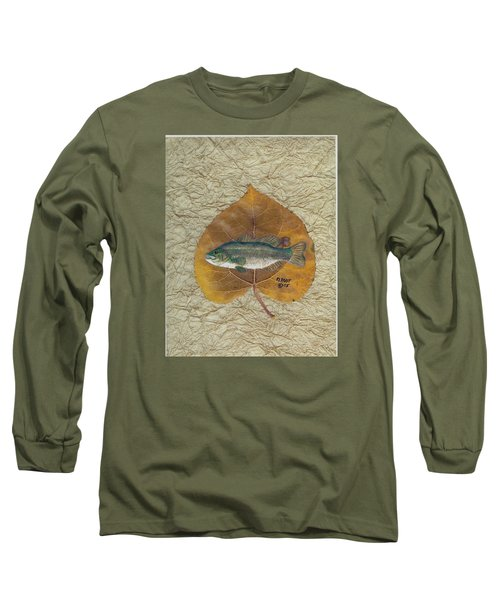 Large Mouth Bass #3 Long Sleeve T-Shirt by Ralph Root