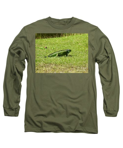 Large Sanibel Iguana Long Sleeve T-Shirt