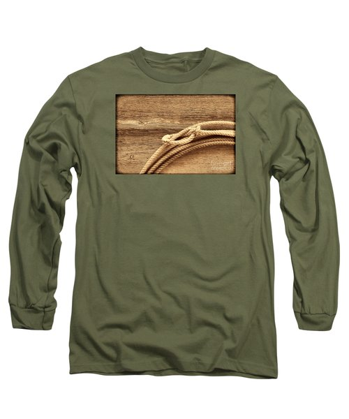 Lariat On Wood Long Sleeve T-Shirt