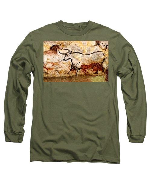 Lascaux Hall Of The Bulls - Aurochs Long Sleeve T-Shirt