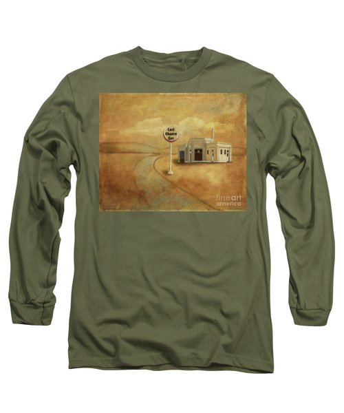 Long Sleeve T-Shirt featuring the digital art Last Chance Gas by Lois Bryan