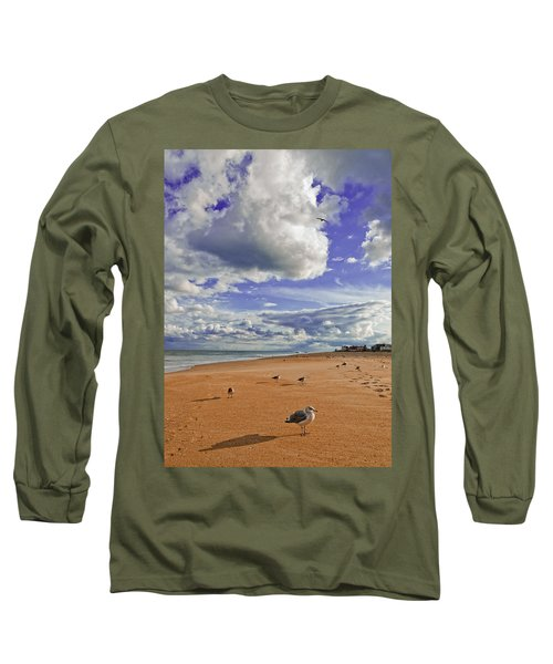 Long Sleeve T-Shirt featuring the photograph Last Day At The Beach by Jim Moore