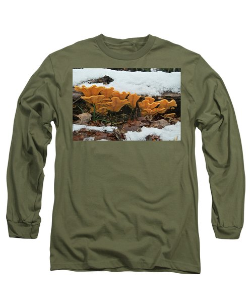 Last Mushrooms Of The Seasons Long Sleeve T-Shirt by Michael Peychich