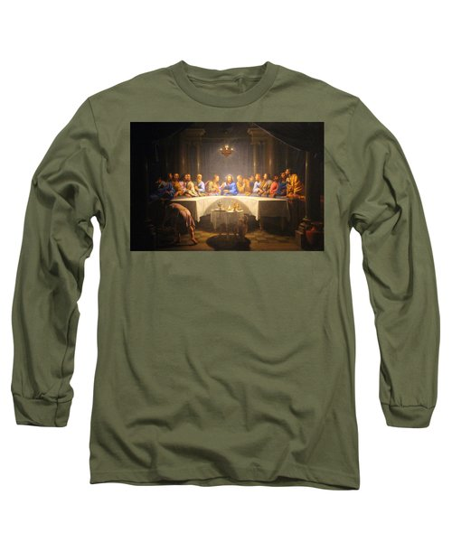 Last Supper Meeting Long Sleeve T-Shirt by Munir Alawi