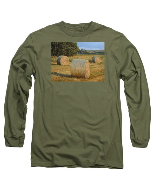 Late Afternoon Bales - Plein Air Long Sleeve T-Shirt