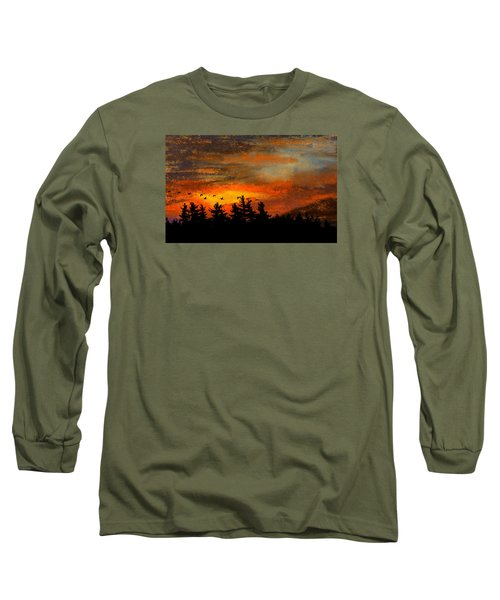 Late Autumn Travelers Long Sleeve T-Shirt by R Kyllo