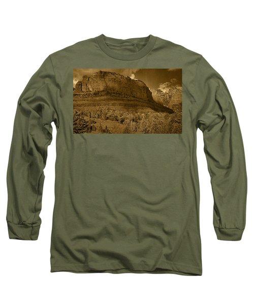 Late Light At Brin's Mesa Tnt Pano Long Sleeve T-Shirt
