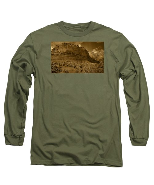 Late Light At Brin's Mesa Tnt Pano Long Sleeve T-Shirt