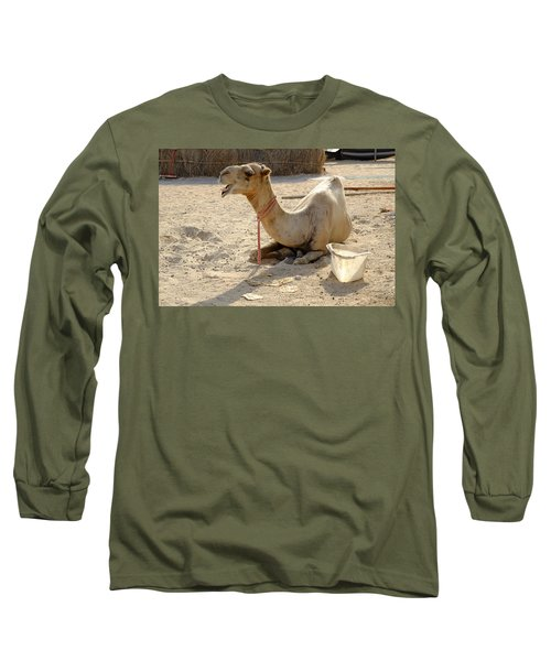 Long Sleeve T-Shirt featuring the photograph Camel Laughing by August Timmermans