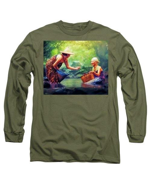 Long Sleeve T-Shirt featuring the photograph Laughter by Bellesouth Studio