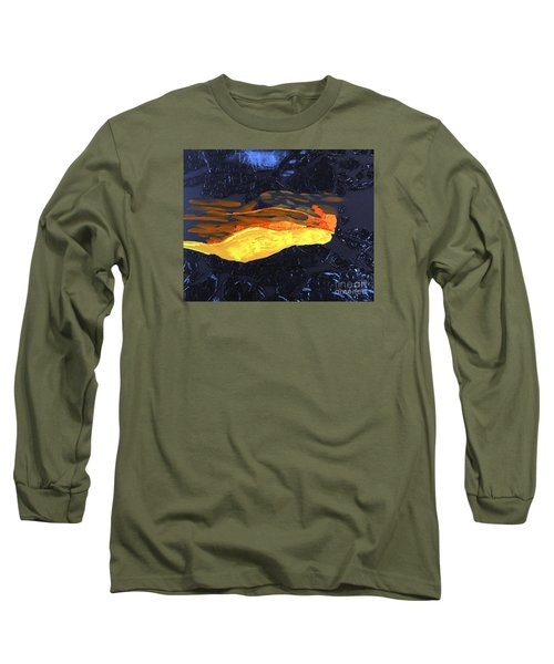 Long Sleeve T-Shirt featuring the painting Lava Flow by Karen Nicholson