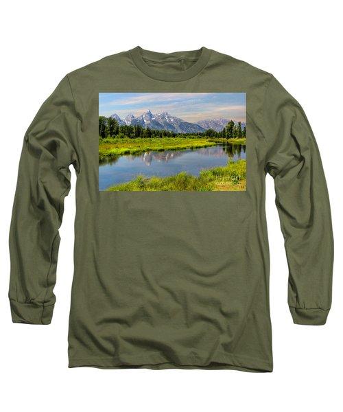 Lavender Teton Peaks  Long Sleeve T-Shirt