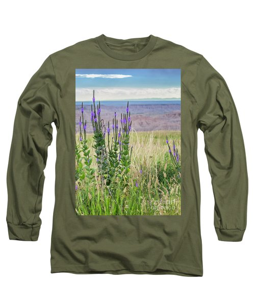 Lavender Verbena And Hills Long Sleeve T-Shirt