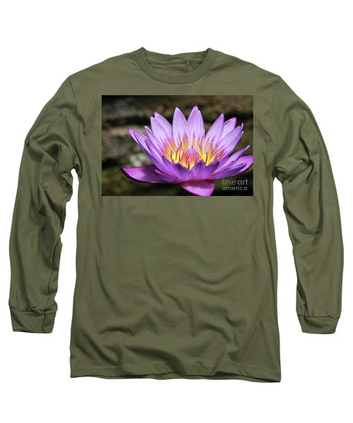 Lavender Water Lily #3 Long Sleeve T-Shirt