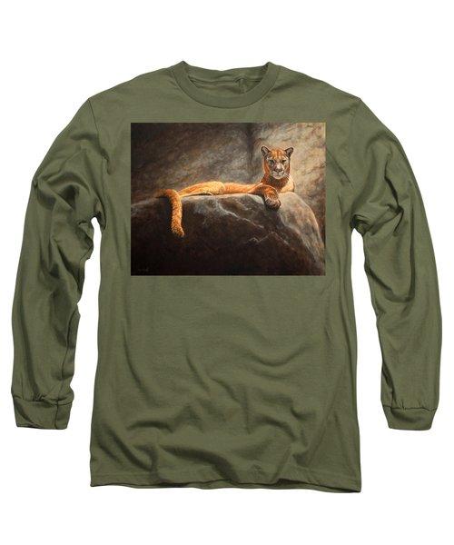 Laying Cougar Long Sleeve T-Shirt