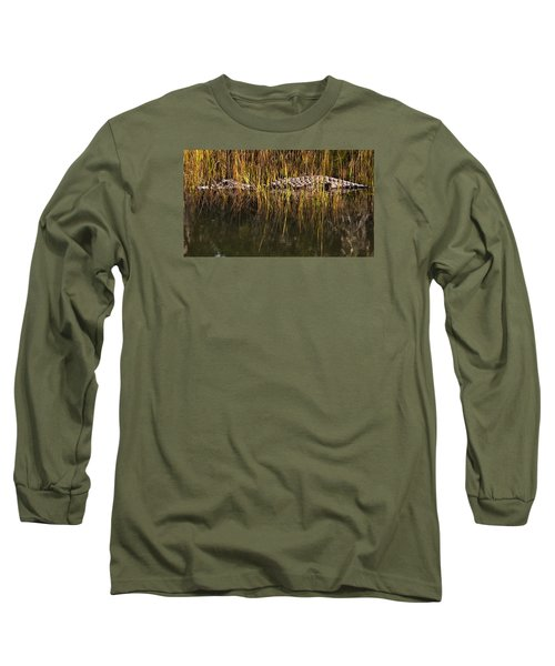 Long Sleeve T-Shirt featuring the photograph Laying In Wait by Laura Ragland