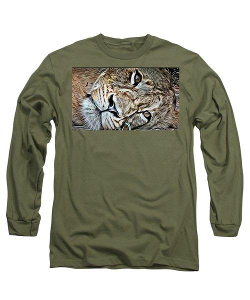 Lazy Lion Long Sleeve T-Shirt